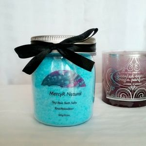 🌹2/$18 Sky Blue Bath Salts